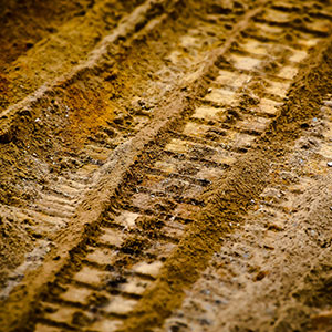 Image of ATV tracks in dirt